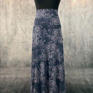 NWT LuLaRoe Purple Floral Maxi Skirt